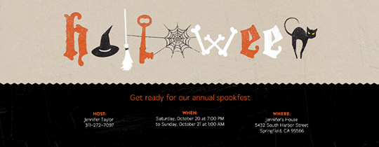 Halloween Letters Invitation