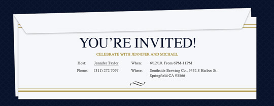 Professional Events free online invitations – Inauguration Invitation Card Sample