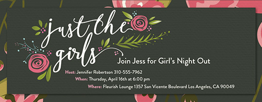 Just the Girls Invitation