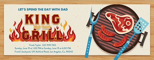 King of the Grill Invitation