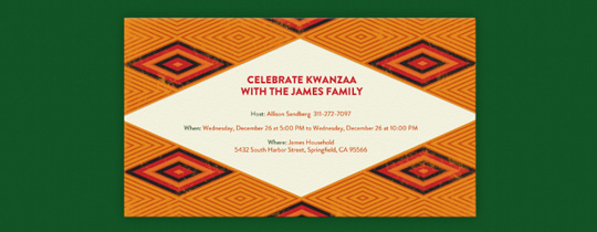 Kwanzaa Diamonds Invitation