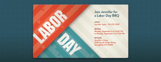 Labor Day Stripes Invitation