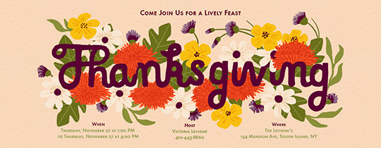 Living Thanksgiving Invitation