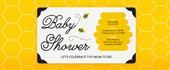 baby, baby shower, bee, bees, bumblebee, hive, honey, honeybee, honeycomb, yellow