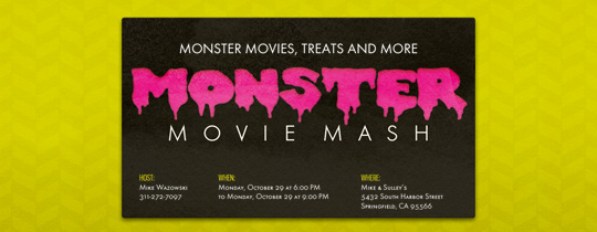 Monster Movie Mash Invitation