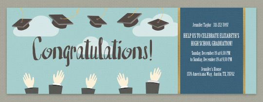 Mortar Board Toss Invitation