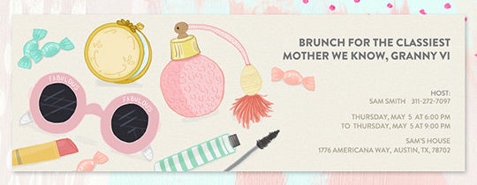Mother's Purse Invitation