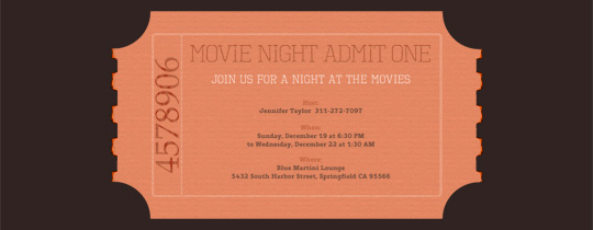 cinema, movie, movies, premiere, theater, ticket, viewing party, movie night,