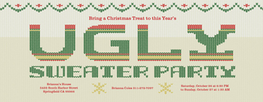 ugly sweater, ugly sweater party, christmas, christmas party, holiday, holidays, holiday party