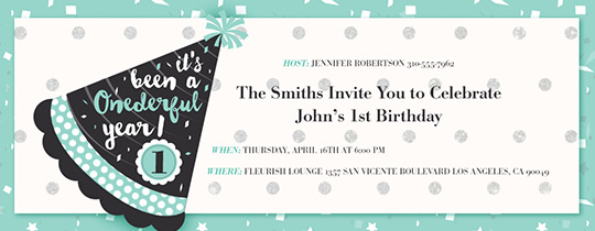 Onederful Hat Invitation