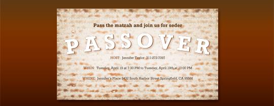 passover free online invitations