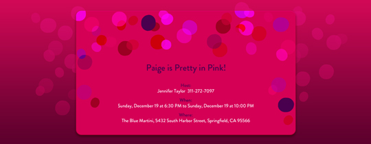 Pink Circles Invitation