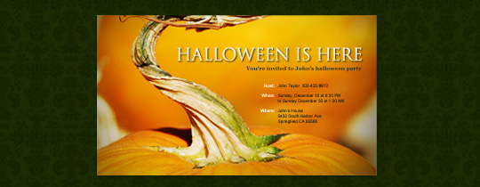 Pumpkin Stem Invitation