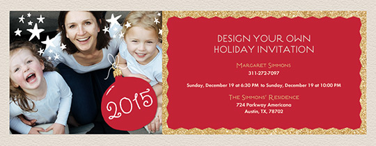 Red Holiday 2015 Invitation