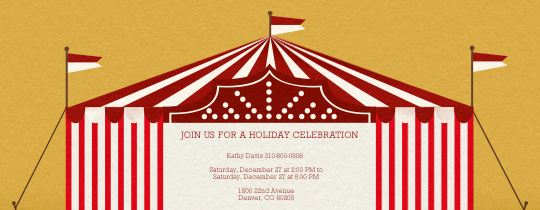 Red White Tent Invitation
