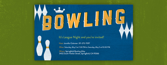 Retro Bowling Invitation