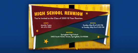 Reunion Pennants Invitation