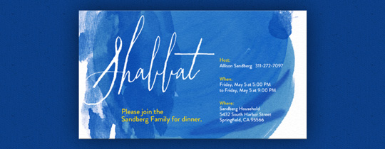 Shabbat Invitation