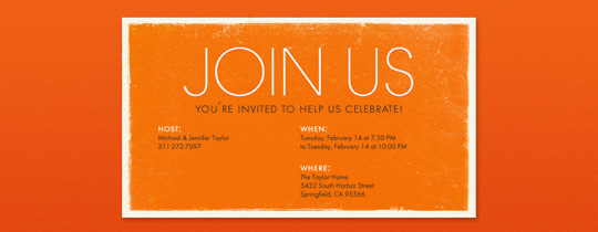Simply Orange Invitation