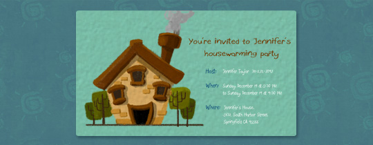 Smoking Chimney Invitation