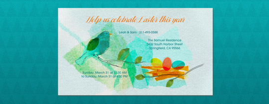 Spring Nest Invitation