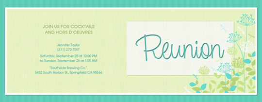 Doc725525 Reunion Cards Invitation Doc7511065 Doc420302 – Reunion Invitation Template
