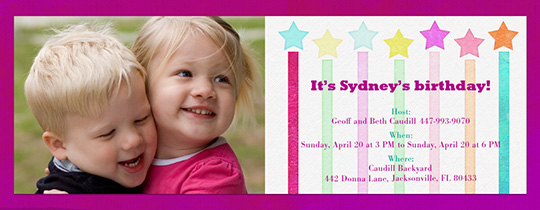 Star Candles Invitation