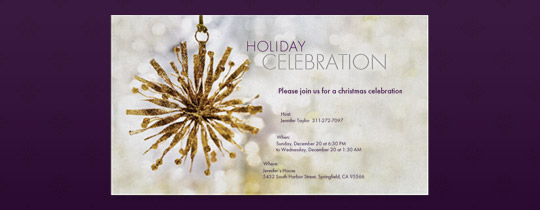 Star Ornament Invitation
