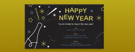 Starry New Year Invitation