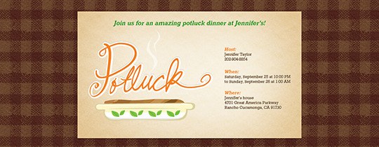 Steaming Potluck Invitation