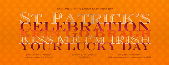 St. Pat's Orange Invitation