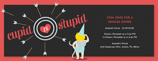 Stupid Cupid Invitation