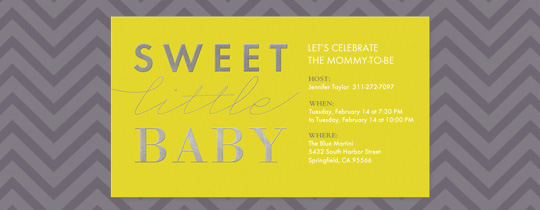 Sweet Little Baby Invitation