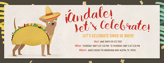 Taco Dog Invitation