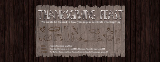 Thanksgiving Feast Invitation