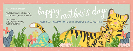 Tiger Mom Invitation