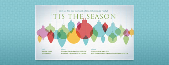 'Tis the Season Invitation