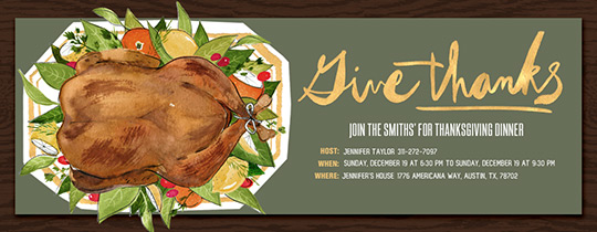 Turkey Platter Invitation