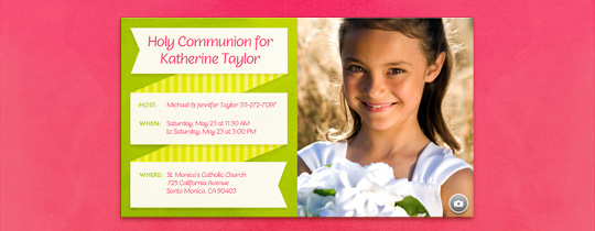 communion, first communion, photo, picture, pink, ribbon