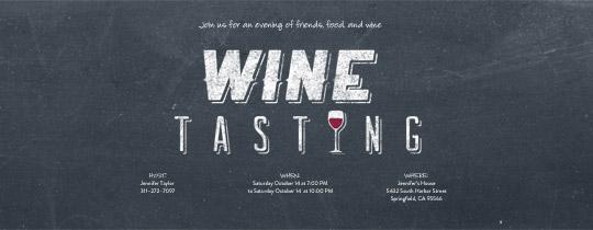 Wine Board Invitation