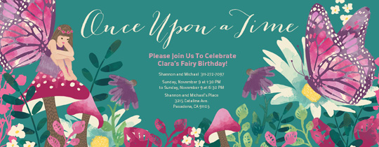 Woodland Fairy Invitation