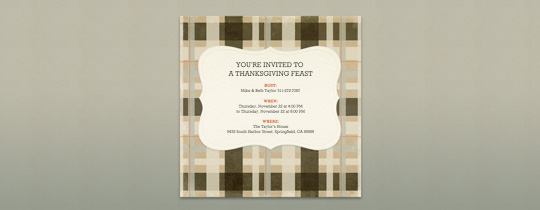 Woven Plaid Invitation