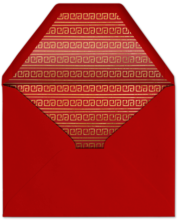 red envelope invitation evite