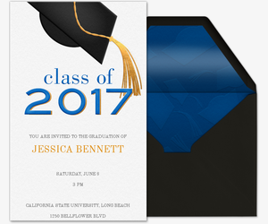 Golden Tassel 2017 Invitation