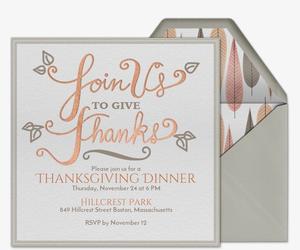 Evitecom Free Online Thanksgiving Dinner Invitations - Thanksgiving party invitation templates