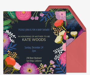 Baby Blooms Invitation
