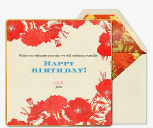 Bday Poppy Talk Invitation