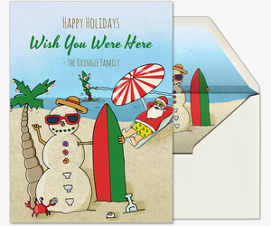 Beach Bum Santa Invitation