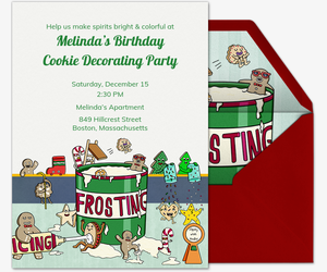 Invitations free ecards and party planning ideas from evite frosting cookies invitation filmwisefo Images