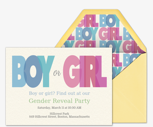 Tonal Boy or Girl Invitation